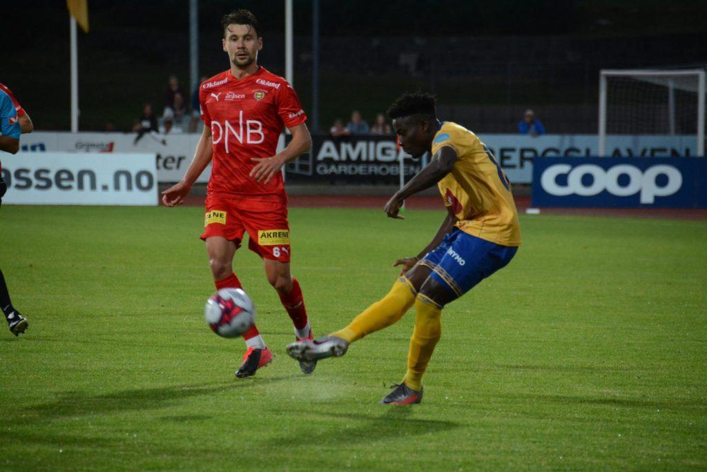 Michael Baidoo stars as FK Jerv extend unbeaten run to eight games after draw against Raufoss