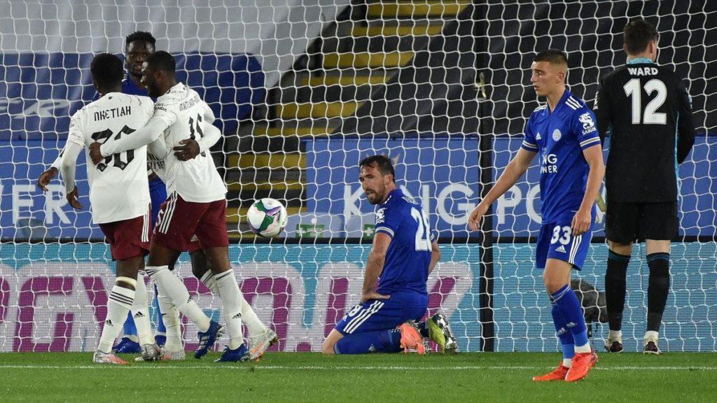 Eddie Nketiah capitalizes on Amartey's blunder to send Arsenal through to EFL Cup quarterfinal