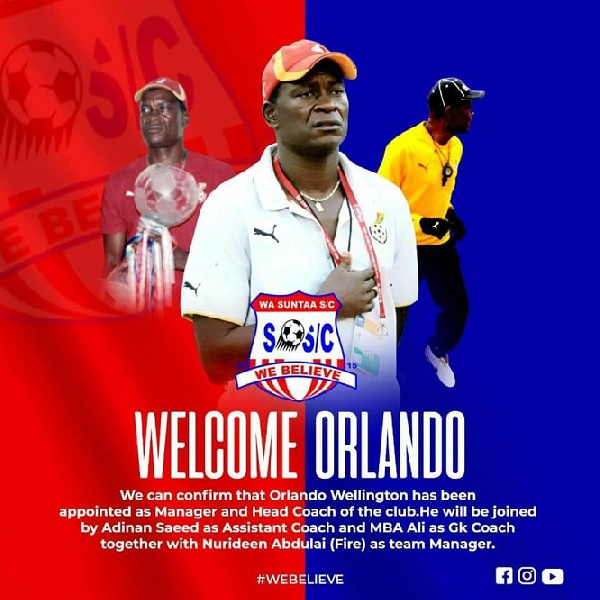 Wa Suntaa SC appoint Orlando Wellington as new head coach