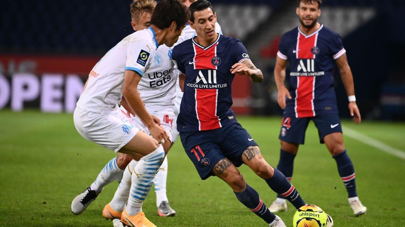 PSG's Di Maria banned four games for Marseille brawl