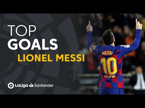 ALL GOALS Lionel Messi LaLiga Santander 2019/2020
