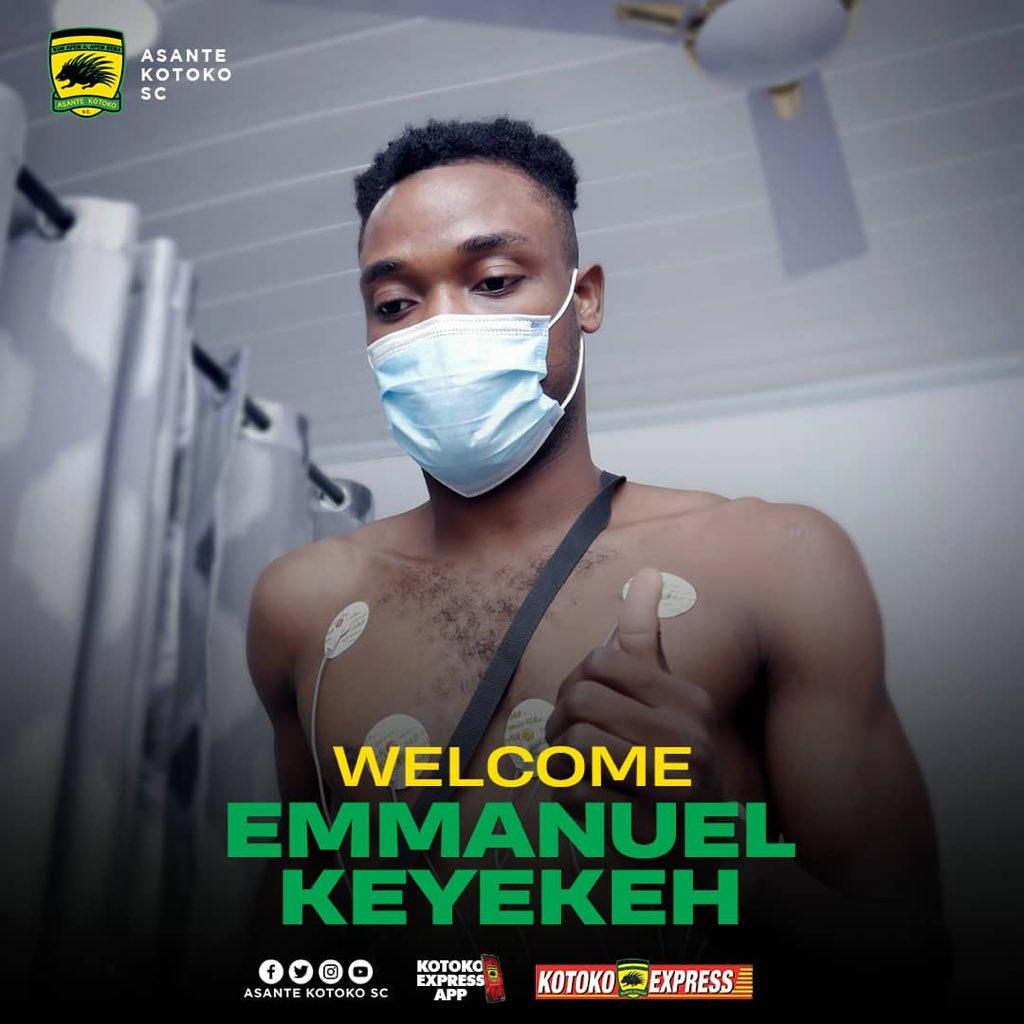 Asante Kotoko confirm signing of midfielder Emmanuel Keyekeh