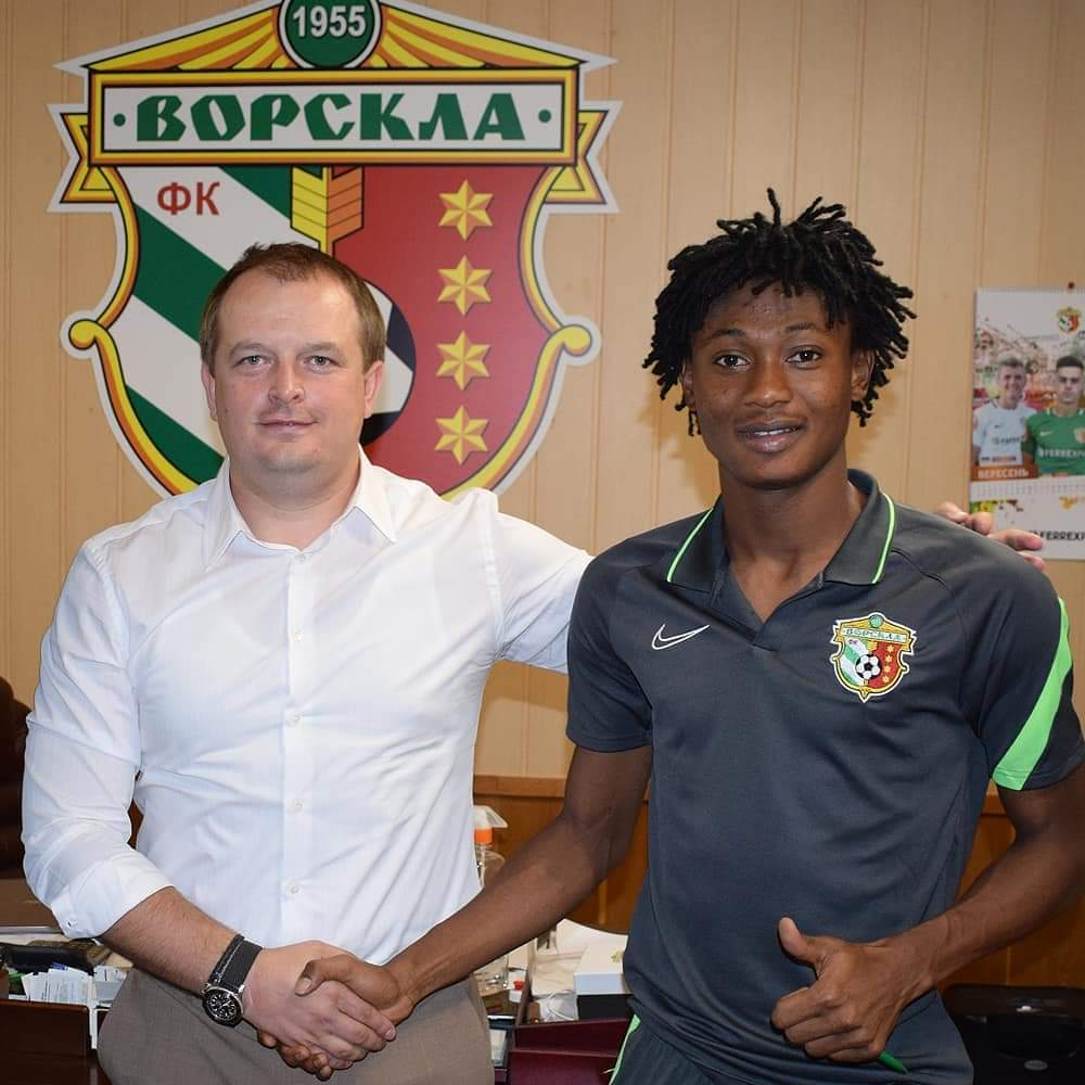Ghana youth star Najeeb Yakubu extends Vorksla Poltava contract for four more years