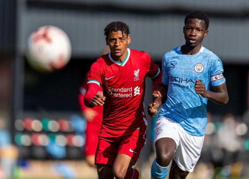 Ghanaian teenager Kwaku Oduroh leads Man City to a resounding victory over Liverpool in U18 Premier League