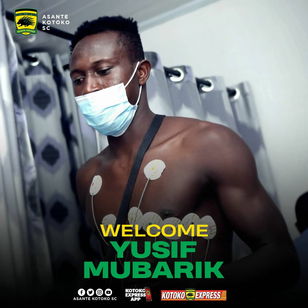 OFFICIAL: Asante Kotoko announce second signing Yusif Mubarik