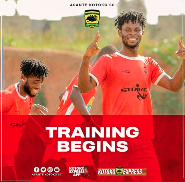 Asante Kotoko commence training today ahead of the start of 2020/21 season