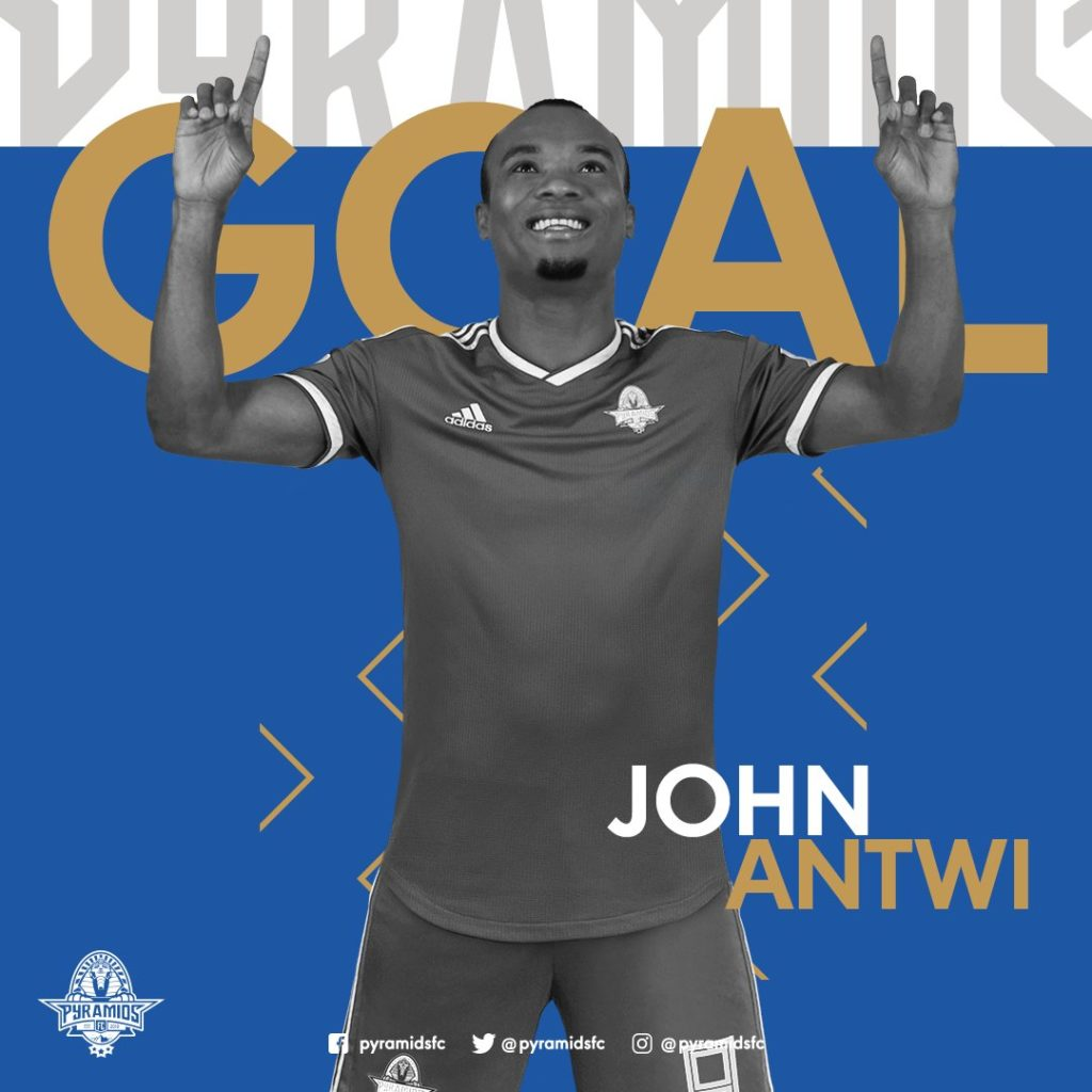 John Antwi responds to Black Stars call up with a goal for Pyramids FC against Al-Ittihad