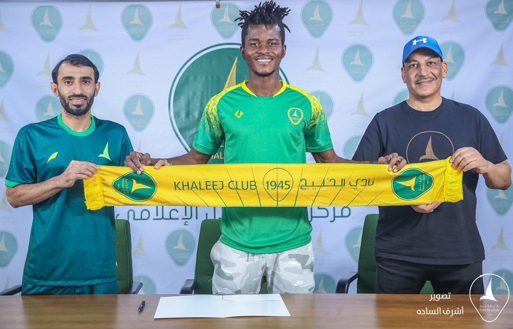Samuel Sarfo signs new contract with Khaleej Club in Saudi Arabia