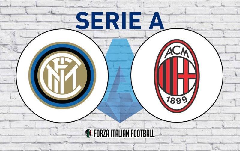 Inter v AC Milan: Official Line-Ups