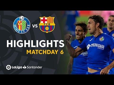 Highlights Getafe CF vs FC Barcelona (1-0)