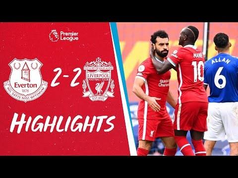 Highlights: Everton 2-2 Liverpool   Salah & Mane on target in dramatic derby