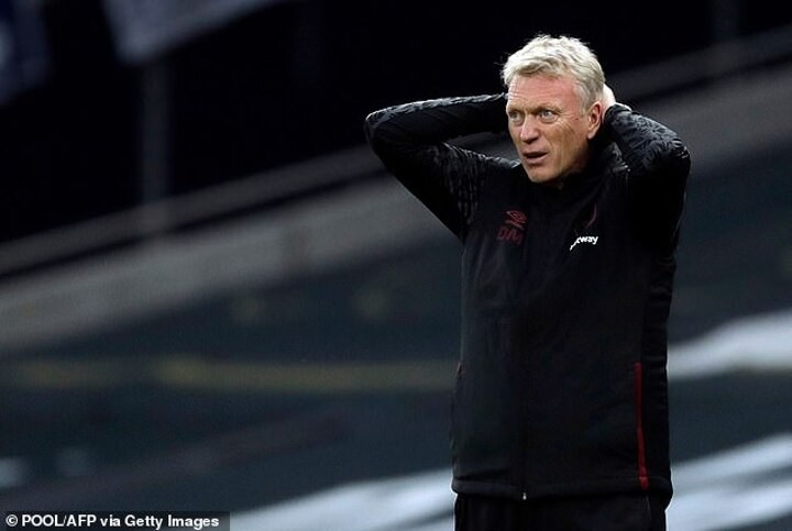 West Ham fans quick to point out change of fortune with David Moyes back in the dugout against Spurs