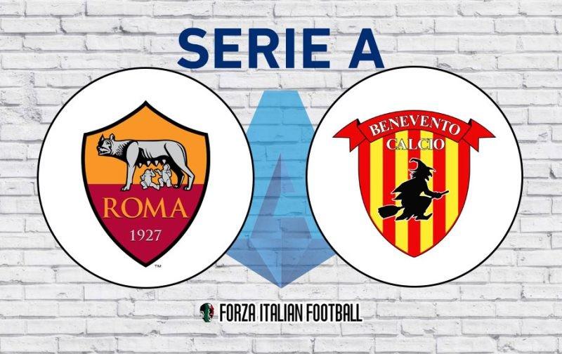 Roma v Benevento: Official Line-Ups