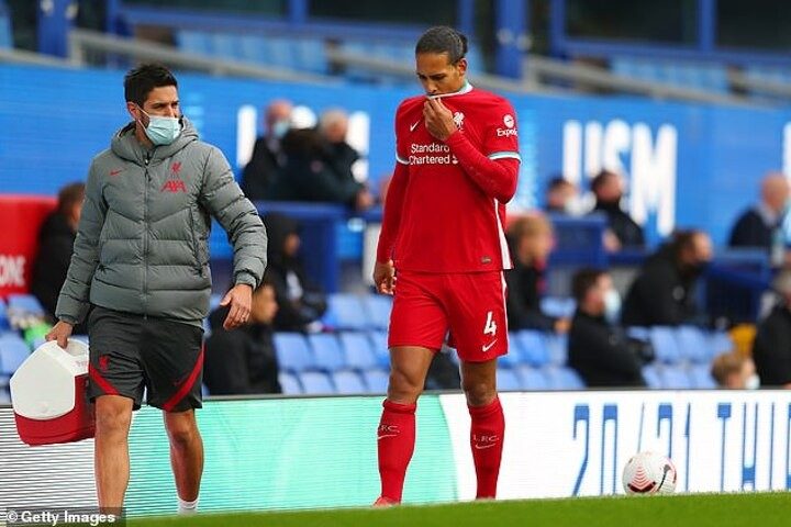 Liverpool's Virgil Van Dijk is all-but ruled out for the SEASON with ACL injury