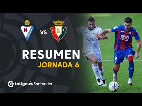 Resumen de SD Eibar vs CA Osasuna (0-0)