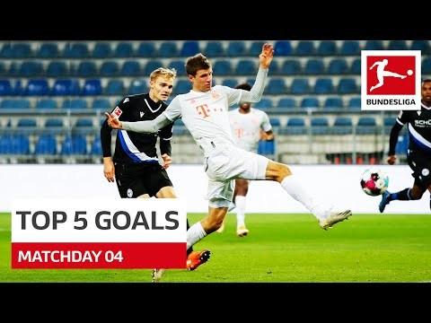 Top 5 Goals • Müller, Poulsen & More | Matchday 4