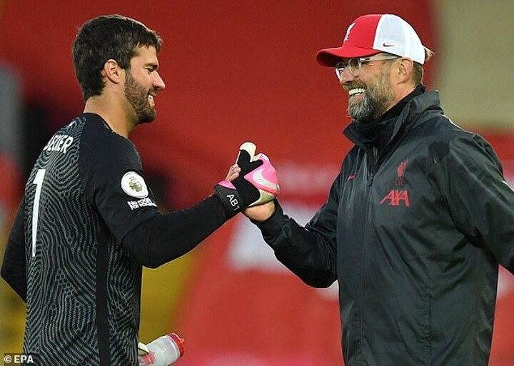 Liverpool duo Alisson & Alcantara could make rapid returns from injury this week