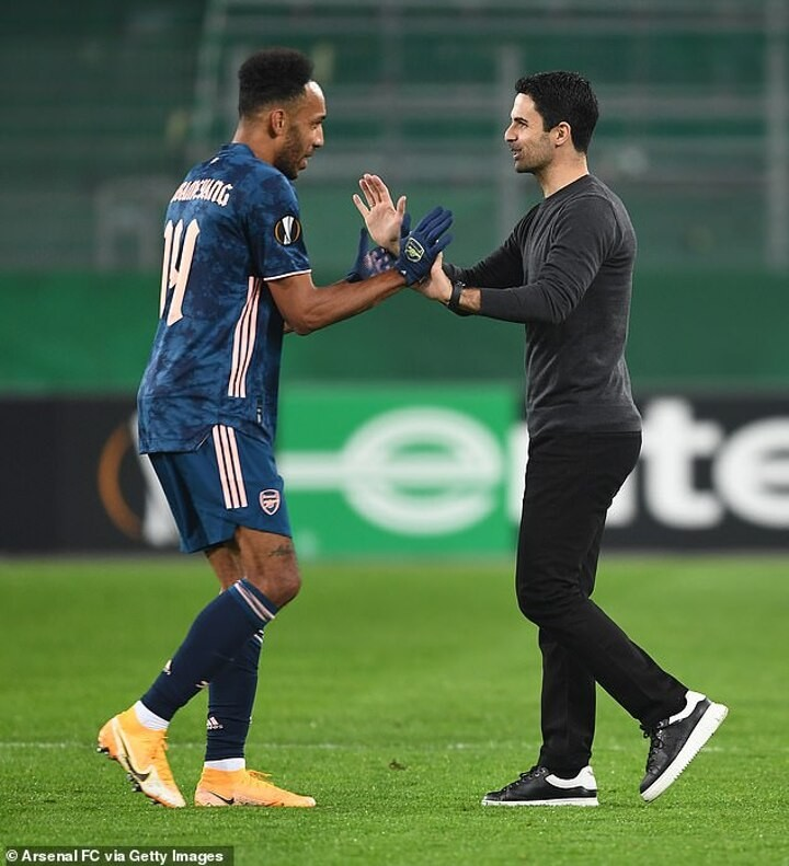 Arsenal boss Mikel Arteta not surprised by Pierre-Emerick Aubameyang's critics