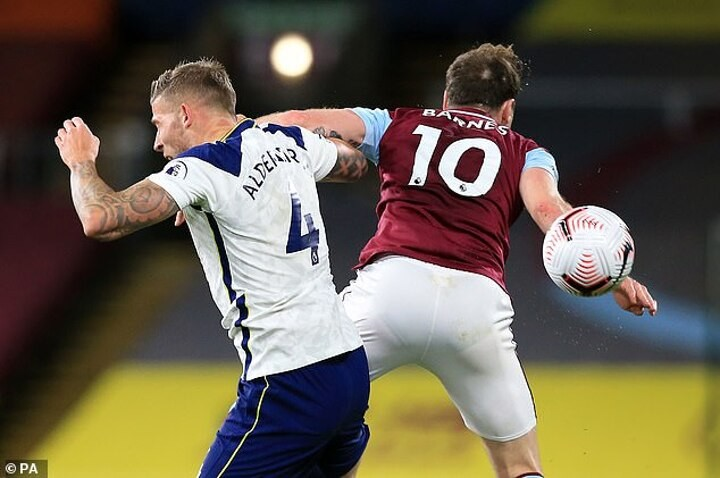 Neville says 'only Barnes will know' whether he meant to hit Alderweireld with elbow