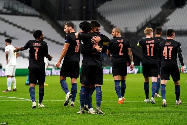 Marseille 0-3 Manchester City: Pep Guardiola's men cruise to victory against under-par hosts