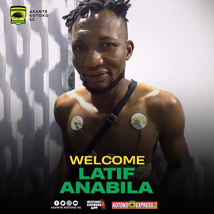 Asante Kotoko SC announce the signing of midfielder Abdul Latif Anabila