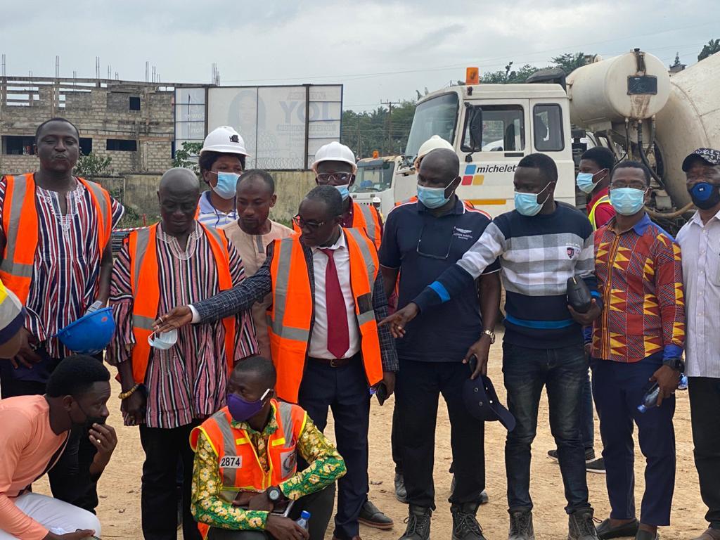 PHOTOS: Reconstruction on Ghana's first ever roofed stadium at Tarkwa
