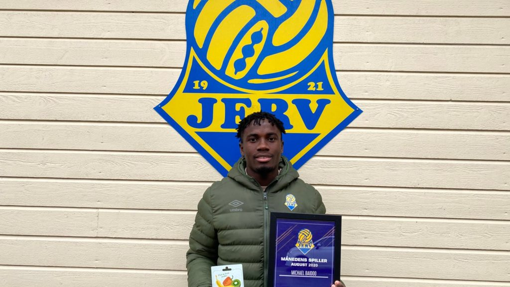 Ghanaian youngster Michael Baidoo named FK Jerv player of the month for August