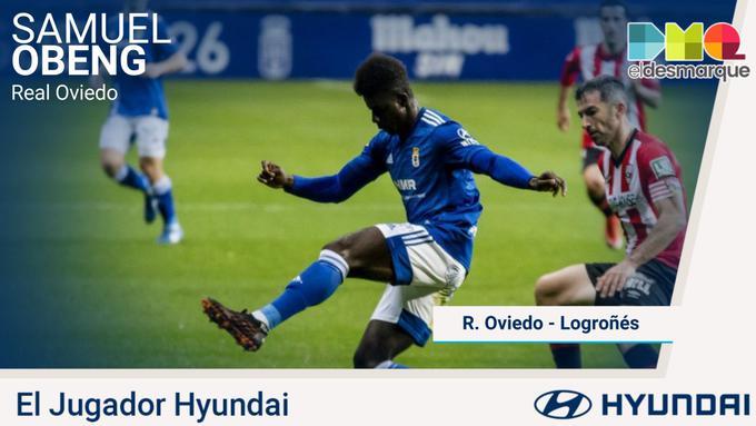Samuel Obeng picks MOTM award in Real Oviedo defeat to Logrones