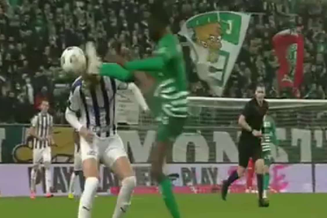 Video: Watch Ghanaian defender Frimpong's HORROR tackle on opponent in Hungary