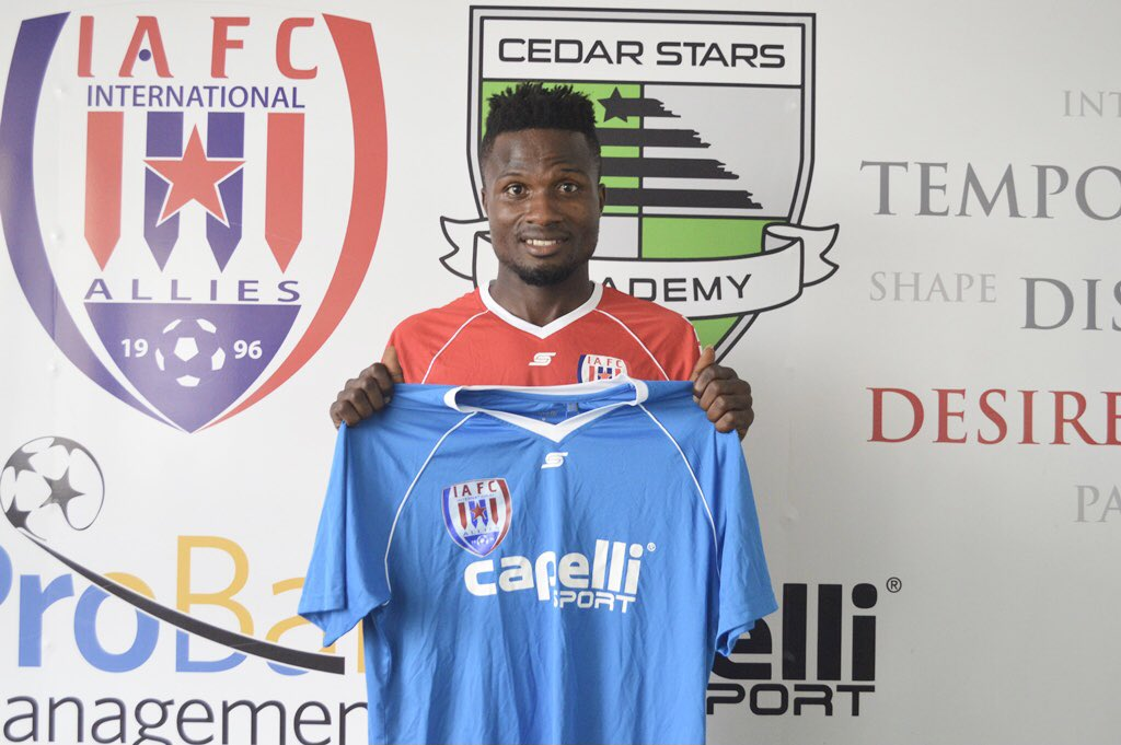 Inter Allies announce signing of forward Michael Kporvi