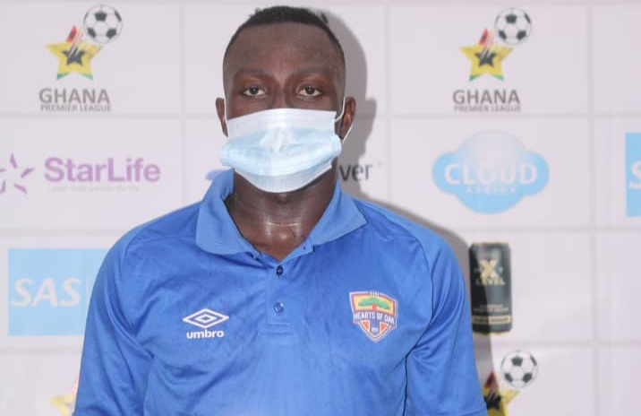 Patrick Razak marks Hearts of Oak return with man of the match award against AshantiGold