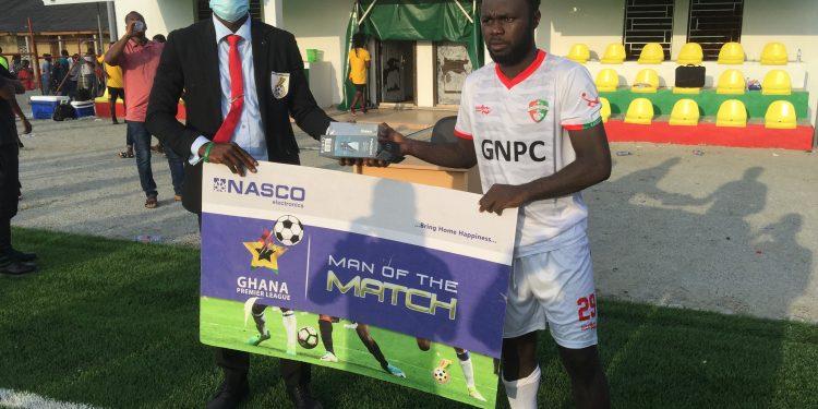 2020/21 Ghana Premier League: Franklyn Osei wins MOTM award after scoring brace in Karela win over Dreams FC