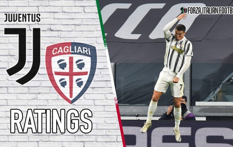 Juventus Player Ratings v Cagliari: Cristiano at the double