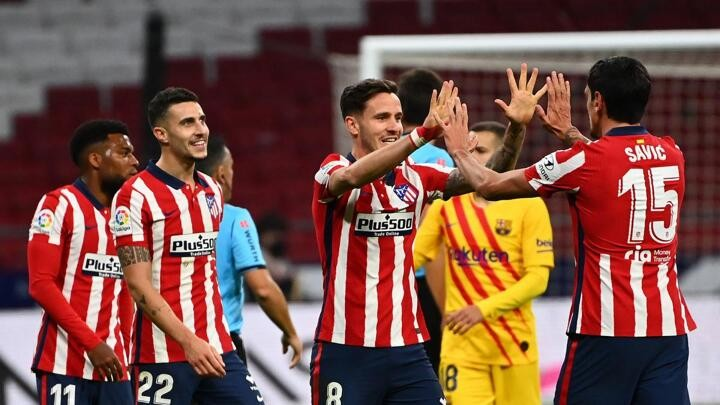 Simeone plays down title chances after finally beating Barcelona