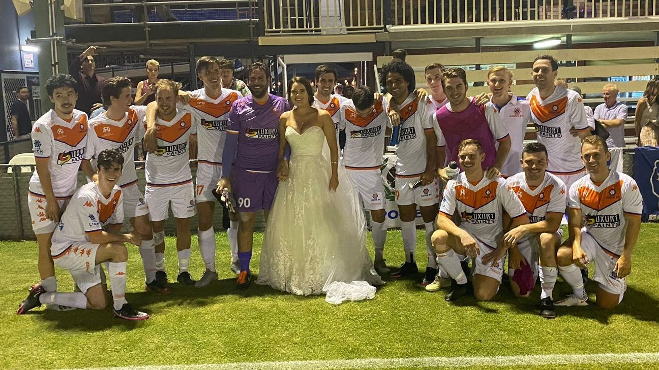 How to get married and play in a semifinal on the same day!