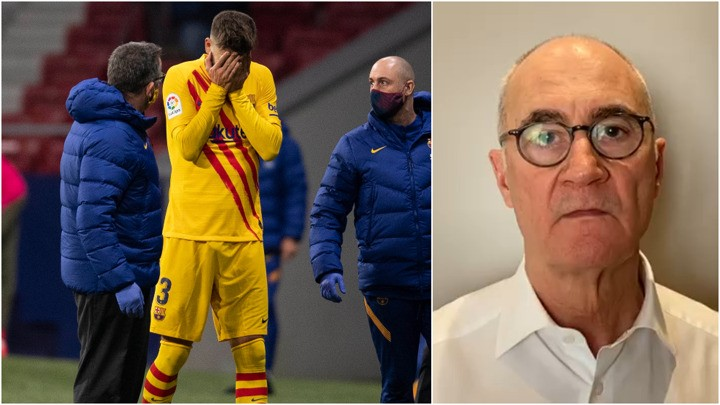Doctor Ripoll: Worst case scenario could see Pique missing for six to eight months