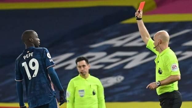 Pepe red card let Arsenal down - Arteta