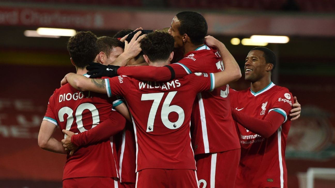 Decimated by injuries, Liverpool remind rivals of 'favourites' status
