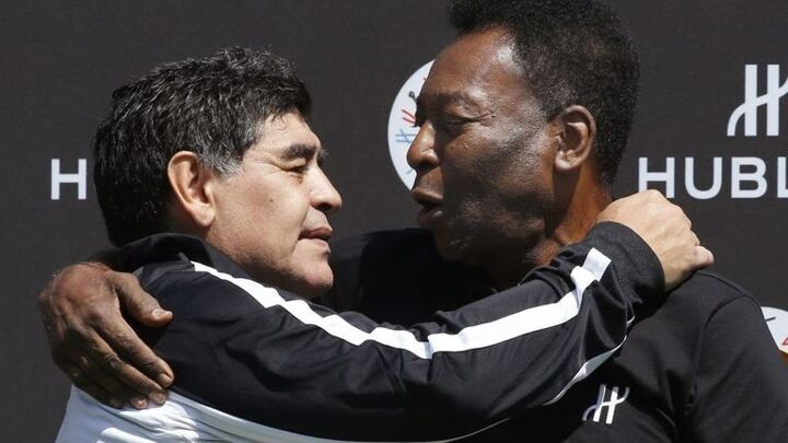 Pele's tribute to Diego Maradona: I hope to play football with him in the sky one day