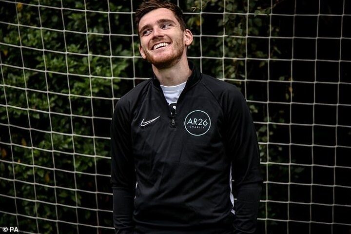 Andy Robertson determined to help the disadvantaged in society as he launches 'AR26' charity