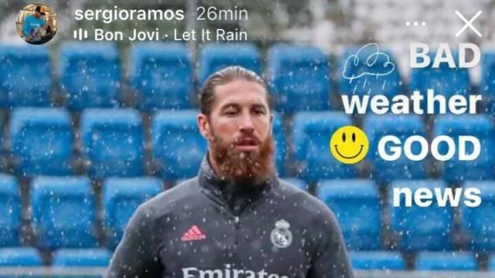 Sergio Ramos: Bad weather, good news