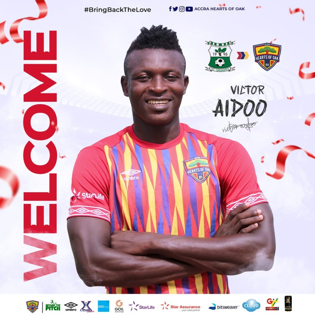 OFFICIAL: Hearts of Oak unveil highly-rated striker Victor Aidoo - Ghana Latest Football News, Live Scores, Results - GHANAsoccernet