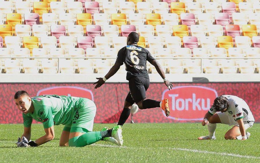 VIDEO: Watch Yeni Malatyaspor star Afriyie Acquah score his season's first league goal