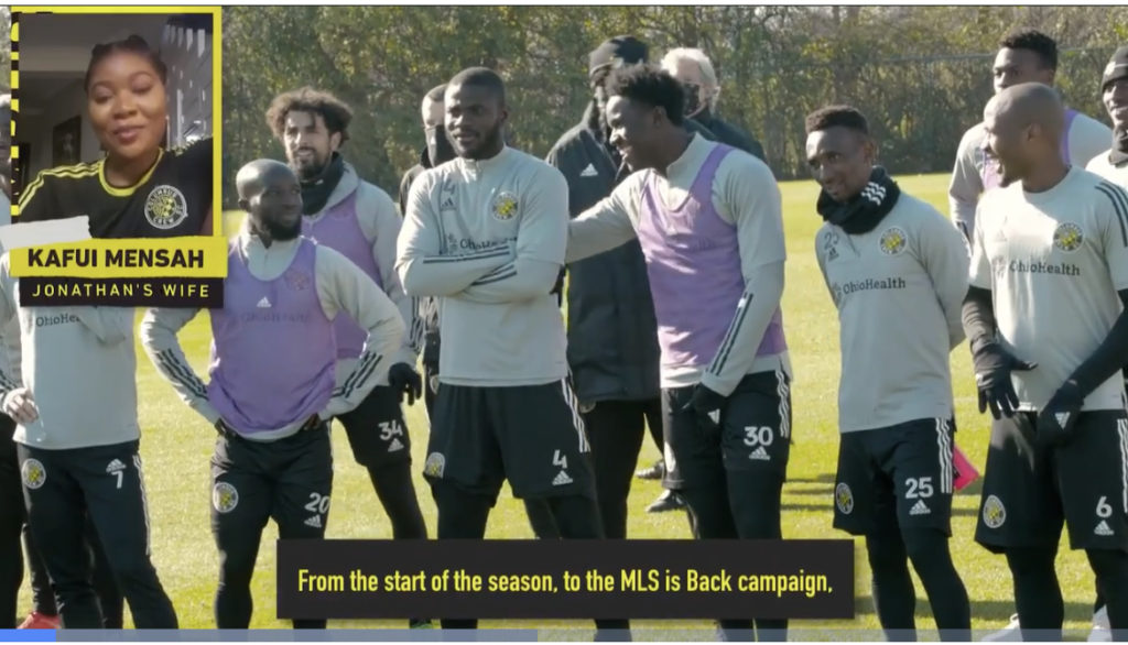 VIDEO: Jonathan Mensah's wife breaks his MLS Best XI inclusion news to Columbus Crew teammates