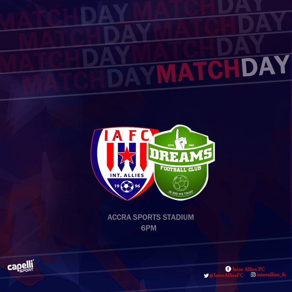 2020/21 Ghana Premier League: Live Updates- Inter Allies v Dreams FC