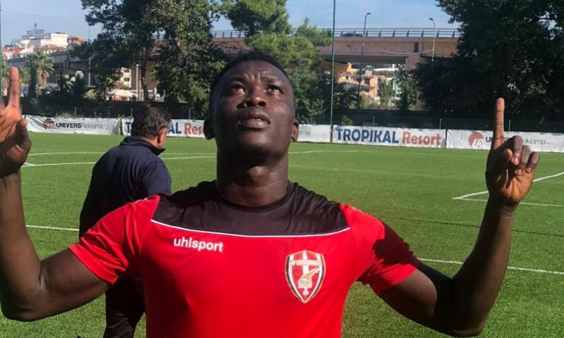 Ghanaian young striker Samuel Armah nets debut goal in Skenderbeu home loss in Albanian League