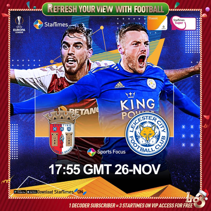 UEFA Europa League on StarTimes: Arsenal and Leicester a win away from the knock-out stage