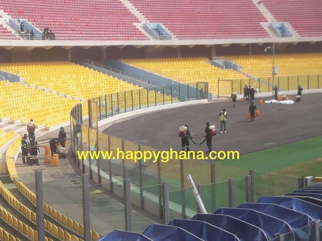 NSA, MOYS fumigate match venues ahead of Ghana Premier League start