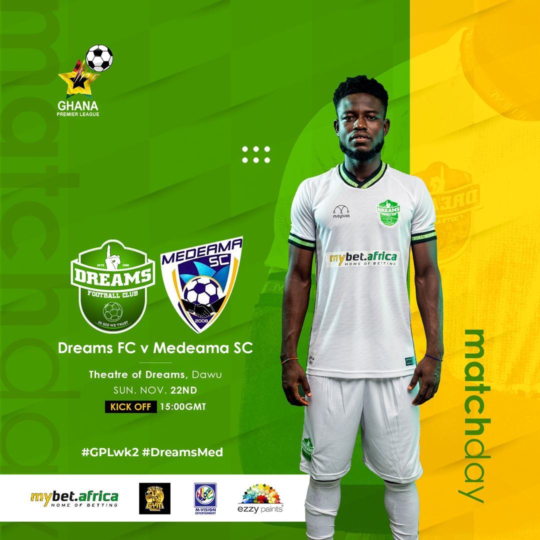 2020/21 Ghana Premier League: Week 2 Match Preview – Dreams FC vs Medeama SC