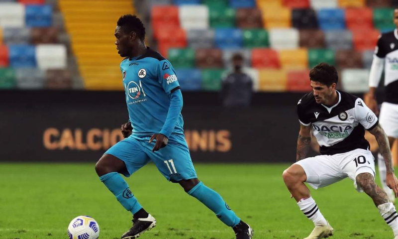 VIDEO: Watch Emmanuel Gyasi's debut serie A goal for Spezia